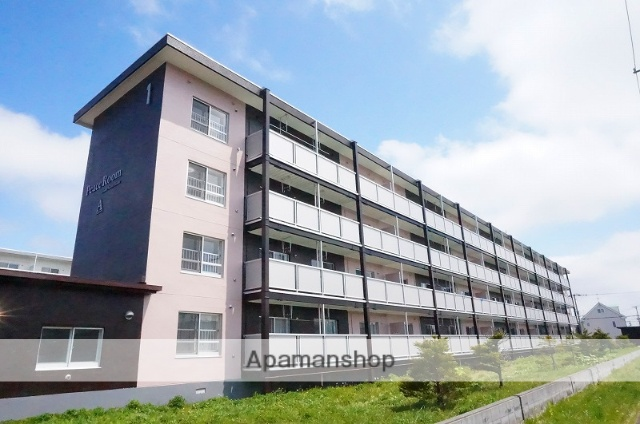 北海道恵庭市、恵庭駅徒歩13分の築47年 4階建の賃貸マンション