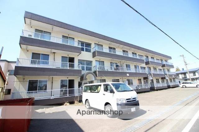 北海道恵庭市、恵庭駅徒歩5分の築22年 3階建の賃貸マンション