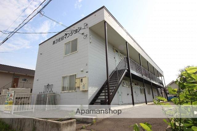 北海道恵庭市の築21年 2階建の賃貸アパート
