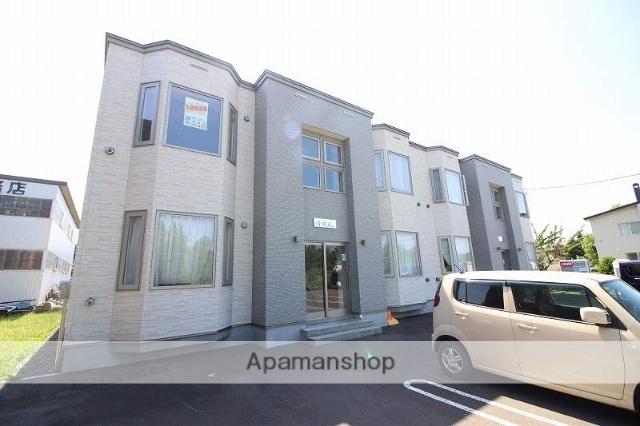 北海道恵庭市、サッポロビール庭園駅徒歩18分の築2年 2階建の賃貸アパート