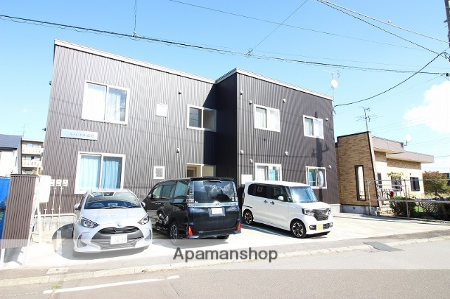 北海道恵庭市、恵庭駅徒歩6分の築1年 2階建の賃貸アパート