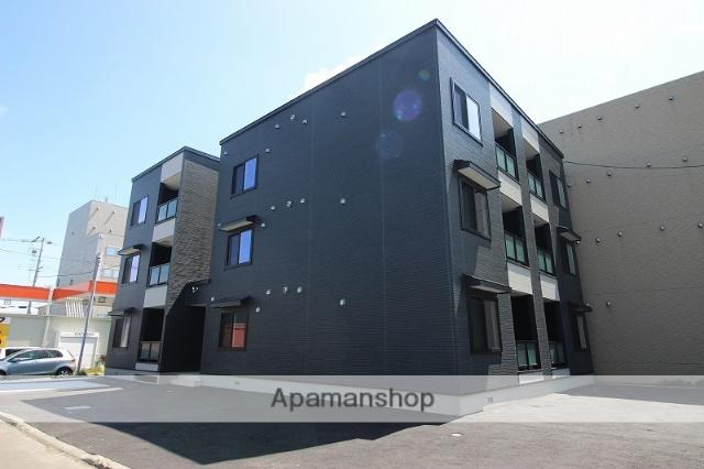 北海道恵庭市、恵庭駅徒歩14分の新築 3階建の賃貸アパート