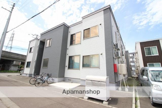 北海道恵庭市、恵み野駅徒歩2分の築2年 2階建の賃貸アパート