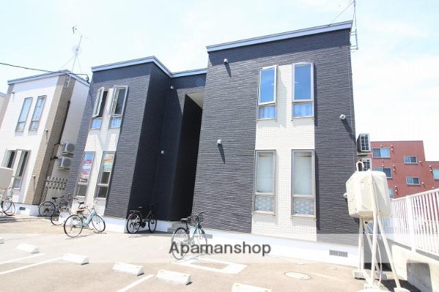 北海道恵庭市、恵み野駅徒歩18分の新築 2階建の賃貸アパート