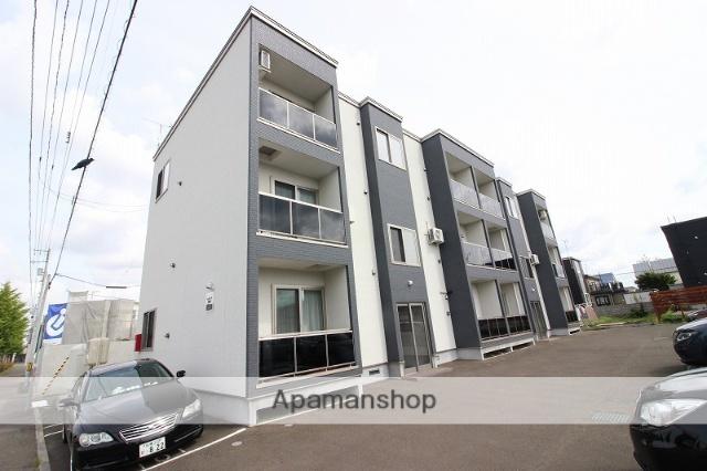 北海道恵庭市、恵庭駅徒歩19分の新築 3階建の賃貸アパート