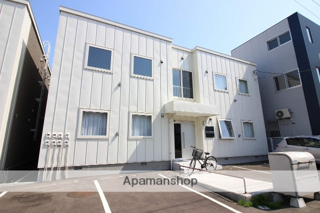 北海道恵庭市、恵庭駅徒歩15分の築2年 2階建の賃貸アパート