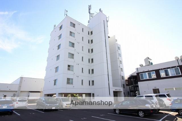 北海道恵庭市、恵み野駅徒歩4分の築27年 7階建の賃貸マンション