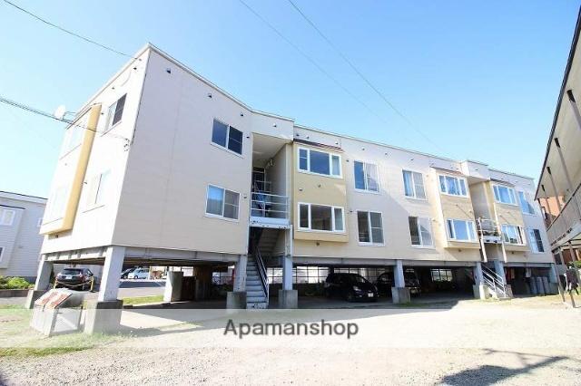 北海道恵庭市、恵庭駅徒歩19分の築26年 3階建の賃貸アパート