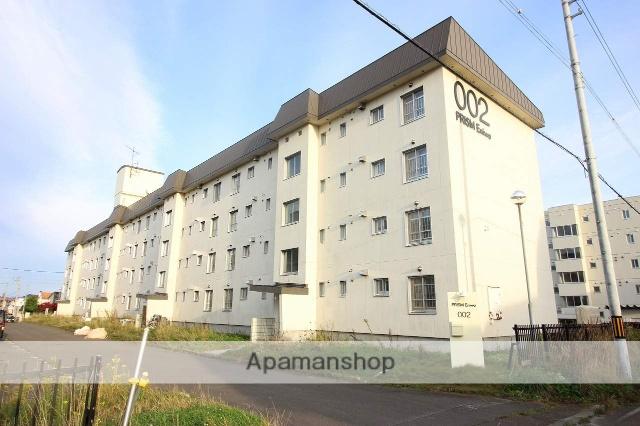 北海道恵庭市、島松駅徒歩8分の築27年 4階建の賃貸マンション