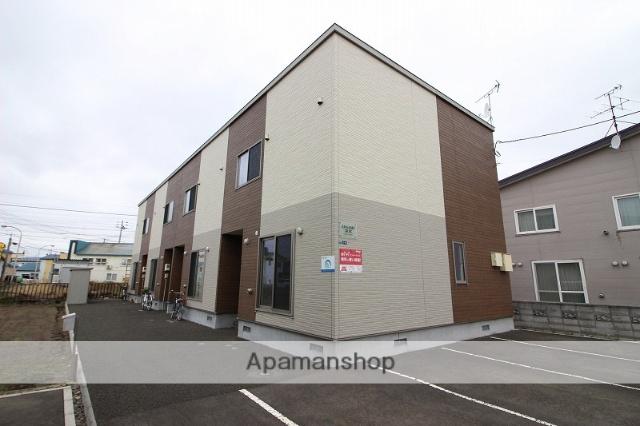 北海道恵庭市、島松駅徒歩6分の新築 2階建の賃貸テラスハウス