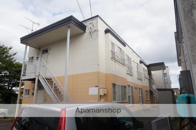 北海道恵庭市、恵庭駅徒歩10分の築26年 2階建の賃貸アパート