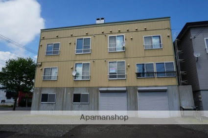 北海道恵庭市、島松駅徒歩7分の築25年 3階建の賃貸アパート
