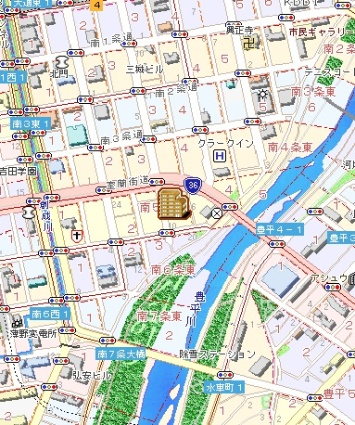 札幌ビオス館[1DK/25.47m2]の配置図