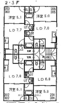 サンシャリエ南5条[1DK/31.18m2]の配置図