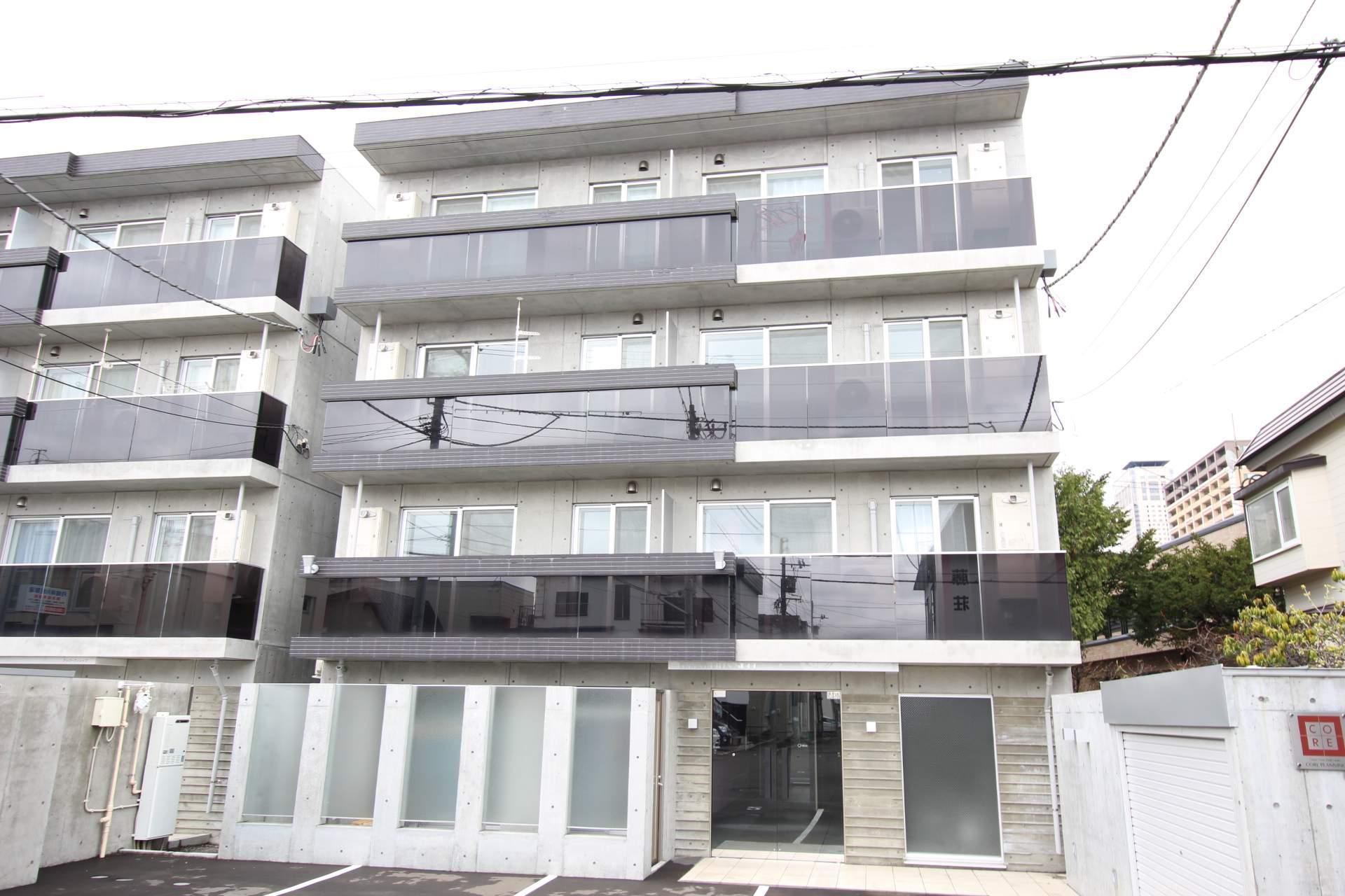 北海道札幌市中央区、札幌駅徒歩9分の築2年 4階建の賃貸マンション