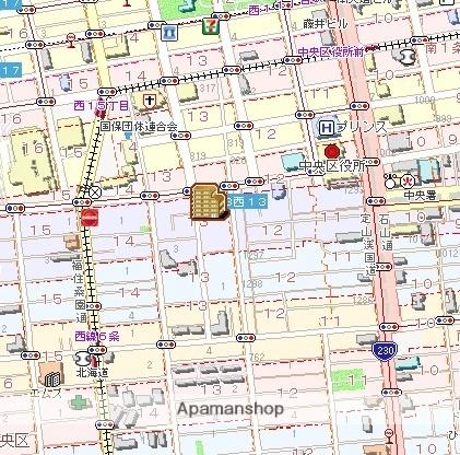 ヴァンヴェール南4条[1K/21.42m2]の配置図