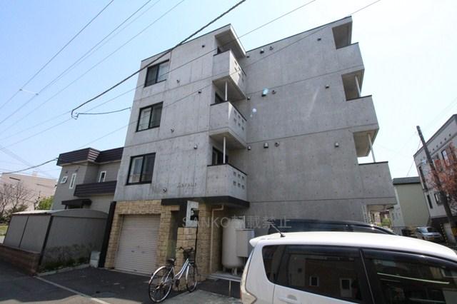 北海道札幌市厚別区、大谷地駅徒歩12分の築9年 4階建の賃貸マンション