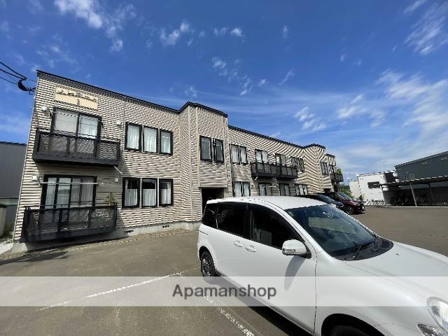 北海道札幌市厚別区、森林公園駅徒歩10分の築18年 2階建の賃貸アパート