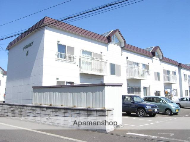 北海道札幌市厚別区、新札幌駅徒歩8分の築22年 2階建の賃貸アパート