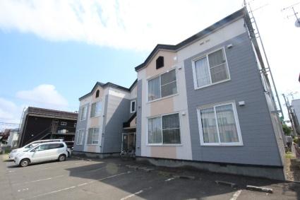 北海道札幌市白石区、厚別駅徒歩18分の築25年 2階建の賃貸アパート