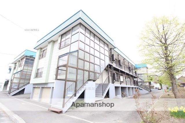 北海道札幌市厚別区、新さっぽろ駅中央バスバス5分厚別東4条2丁目下車後徒歩1分の築28年 2階建の賃貸アパート