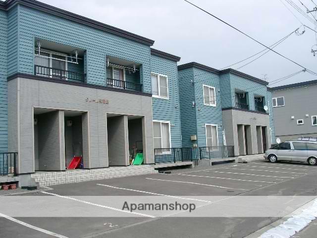 北海道北広島市の築18年 2階建の賃貸アパート