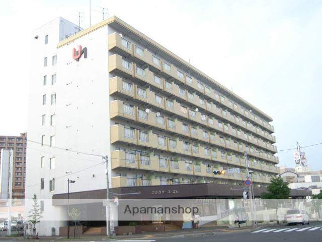 北海道札幌市厚別区、新札幌駅徒歩4分の築36年 9階建の賃貸マンション