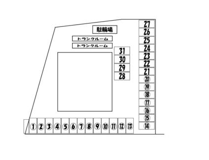 コーポライジングサン[3LDK/64.84m2]の配置図