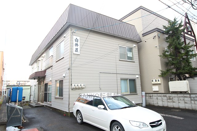 北海道札幌市厚別区、新札幌駅徒歩4分の築41年 2階建の賃貸アパート