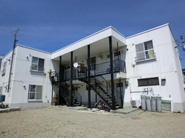 北海道札幌市白石区、厚別駅徒歩23分の築25年 2階建の賃貸アパート