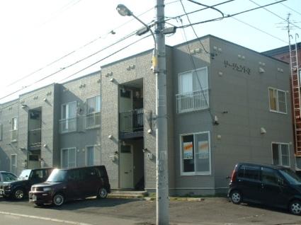 北海道札幌市豊平区、南郷7丁目駅徒歩10分の築25年 2階建の賃貸アパート