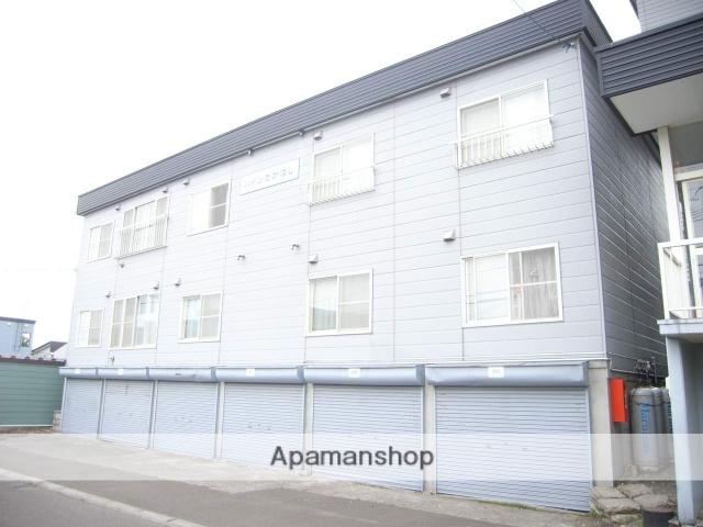 北海道北広島市、大谷地駅中央バスバス27分大曲下車後徒歩6分の築23年 3階建の賃貸アパート