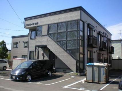 北海道札幌市白石区、白石駅徒歩48分の築18年 2階建の賃貸アパート