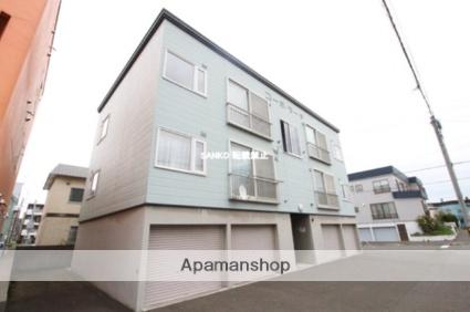 北海道札幌市北区、新川駅徒歩13分の築19年 3階建の賃貸アパート