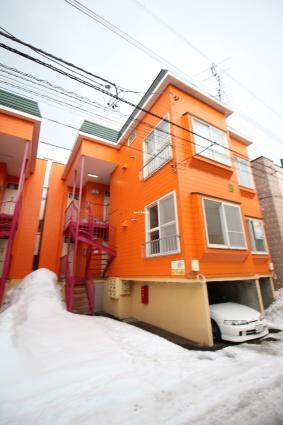 北海道札幌市北区、新琴似駅徒歩16分の築28年 2階建の賃貸アパート
