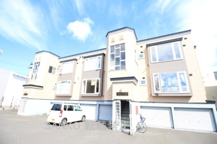 北海道札幌市東区、新琴似駅徒歩15分の築24年 2階建の賃貸アパート