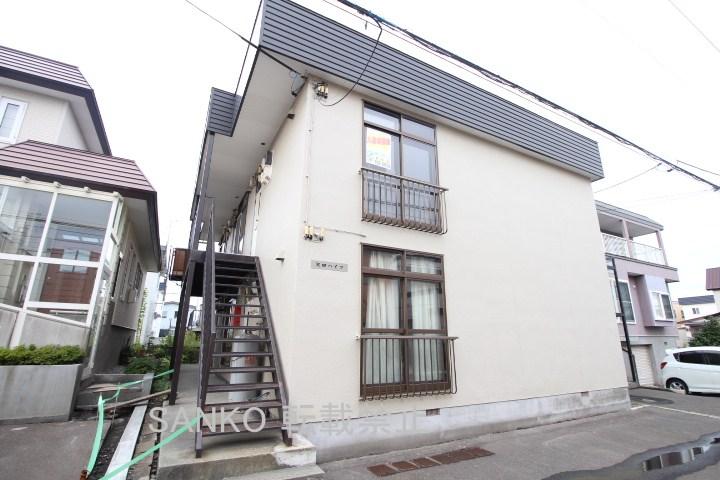 北海道札幌市東区、太平駅徒歩14分の築34年 2階建の賃貸アパート