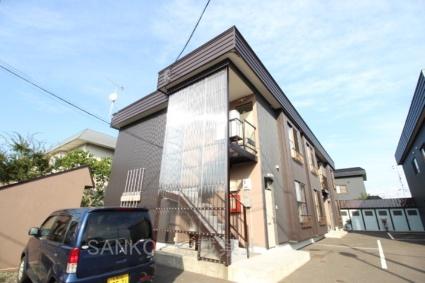 北海道札幌市東区、新琴似駅徒歩18分の築33年 2階建の賃貸アパート