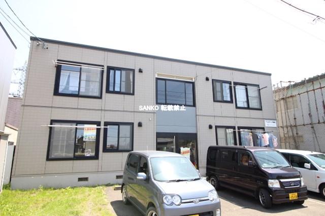 北海道札幌市北区、百合が原駅徒歩15分の築20年 2階建の賃貸アパート