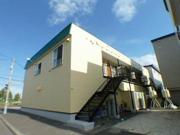 北海道札幌市北区、篠路駅徒歩24分の築23年 2階建の賃貸アパート