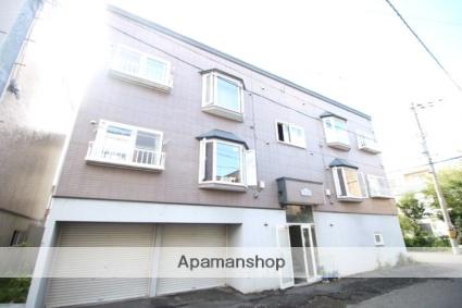 北海道札幌市東区、新道東駅徒歩13分の築17年 3階建の賃貸アパート
