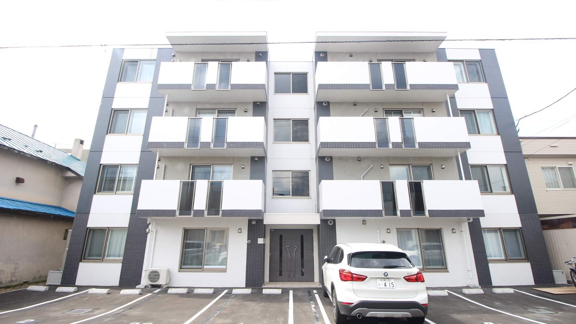 北海道札幌市北区、新琴似駅徒歩6分の新築 4階建の賃貸マンション