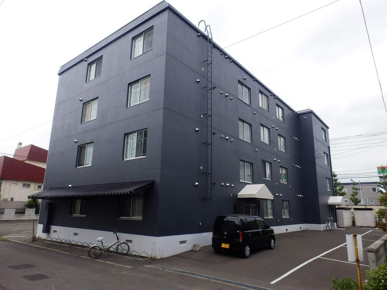 北海道札幌市北区、新川駅徒歩2分の築31年 4階建の賃貸マンション