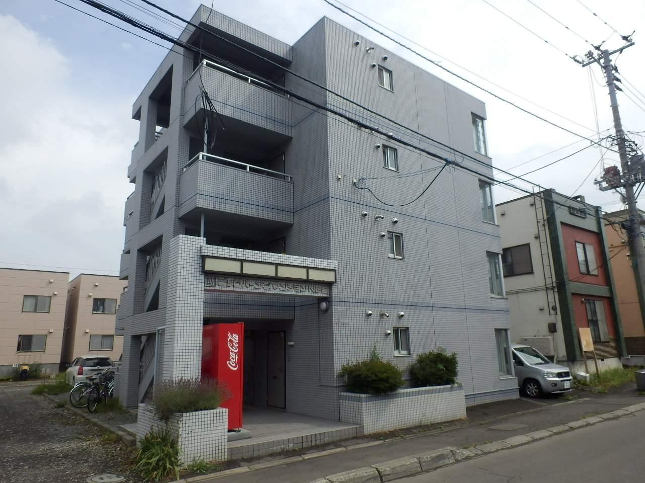 北海道札幌市北区、新川駅徒歩15分の築26年 4階建の賃貸マンション
