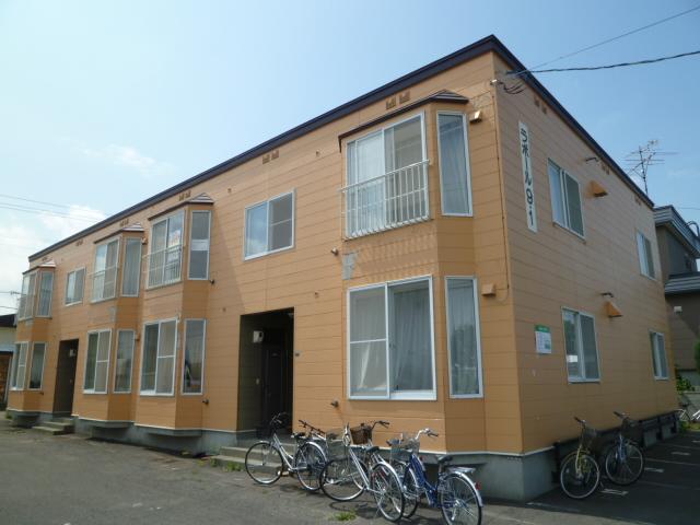 北海道札幌市北区、百合が原駅徒歩15分の築23年 2階建の賃貸アパート