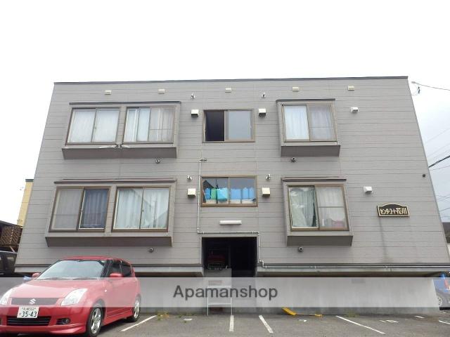 北海道石狩市、手稲駅中央バスバス22分花川南1−3下車後徒歩6分の築18年 2階建の賃貸アパート
