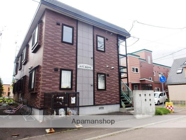 北海道札幌市北区、あいの里教育大駅徒歩11分の築14年 2階建の賃貸アパート