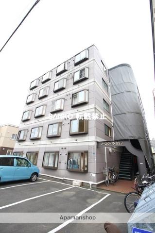 北海道札幌市北区、新川駅徒歩15分の築26年 5階建の賃貸マンション