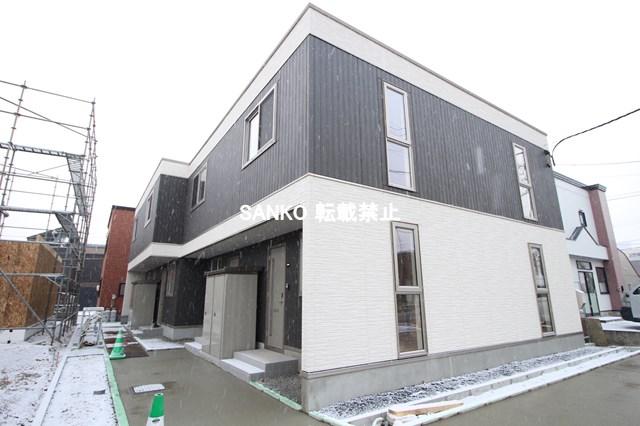北海道札幌市北区、新川駅徒歩11分の新築 2階建の賃貸テラスハウス