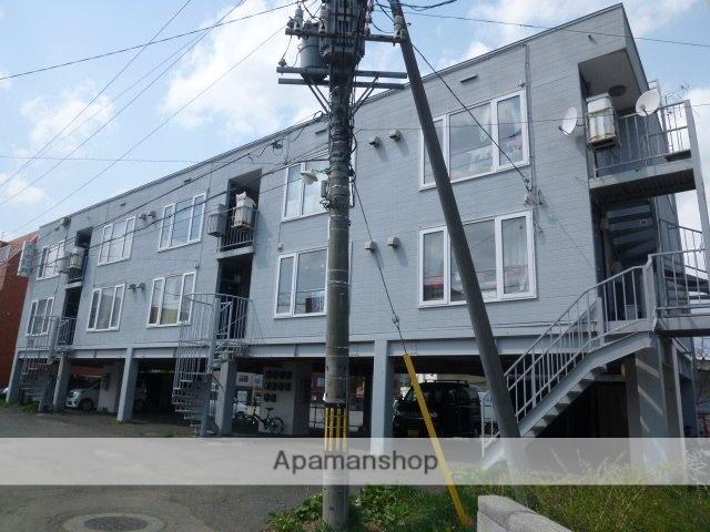 北海道札幌市豊平区、美園駅徒歩20分の築33年 3階建の賃貸アパート